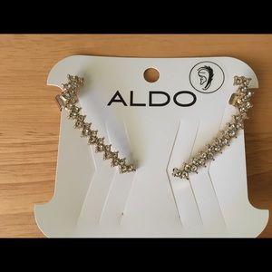 Aldo Cuff Earrings in Gold